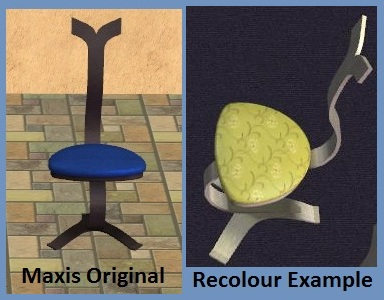 Plastic City NodePod Chair Recolours Example